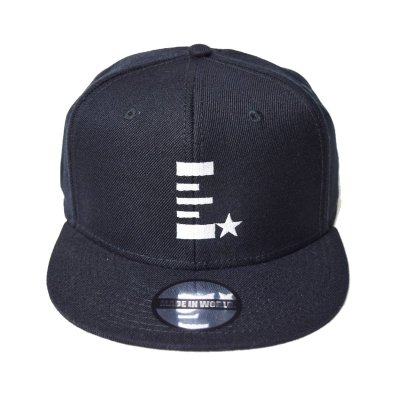 snap back cap (E☆) <br>black