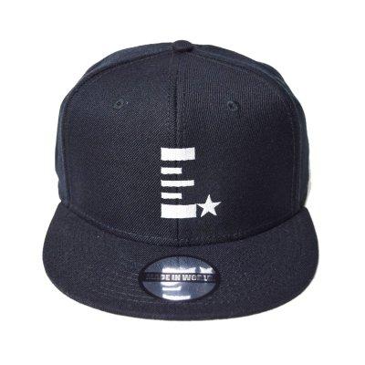 snap back cap (E☆) <br>black