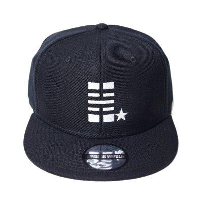 snap back cap (H☆) <br>black
