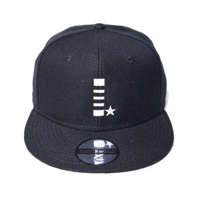 snap back cap (I☆) <br>black