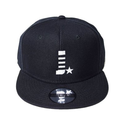 snap back cap (J☆) <br>black