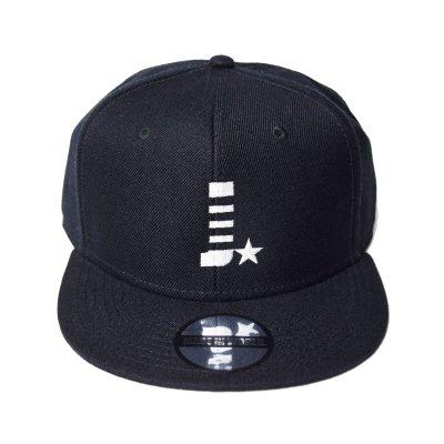 snap back cap (J☆) <br>black