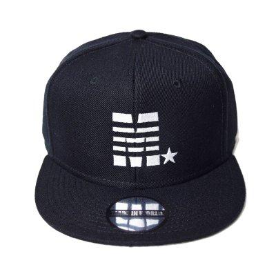 snap back cap (M☆) <br>black