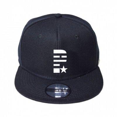 snap back cap (P☆) <br>black