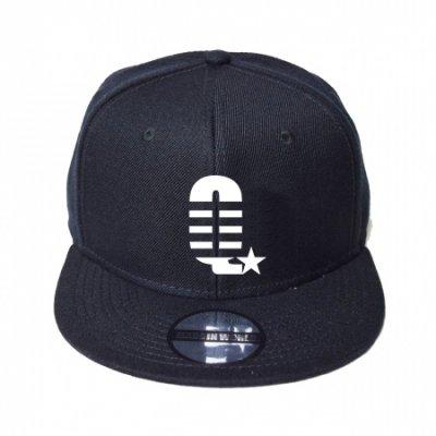 snap back cap (Q☆) <br>black