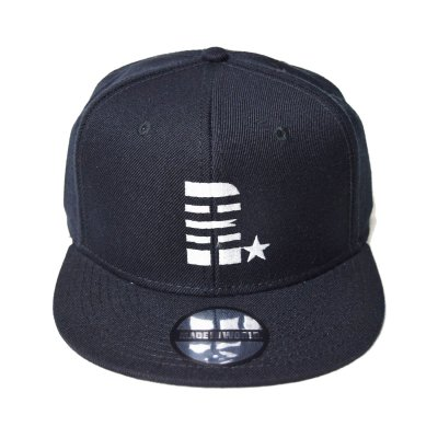 snap back cap (R☆) <br>black