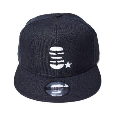 snap back cap (S☆) <br>black