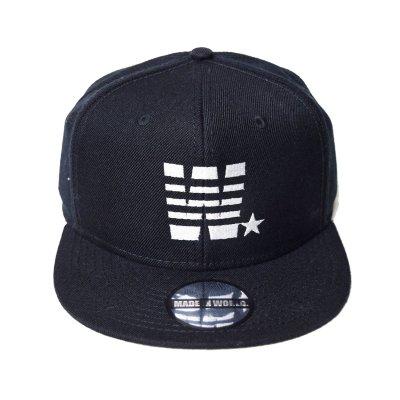 snap back cap (W☆) <br>black