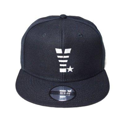 snap back cap (Y☆) <br>black