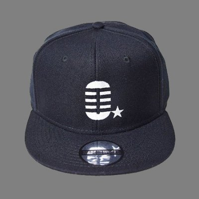 snap back cap (0☆) <br>black