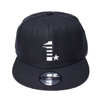 snap back cap (1☆) <br>black