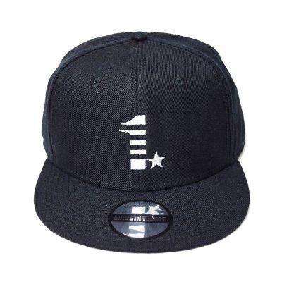 snap back cap (1☆) <br>black
