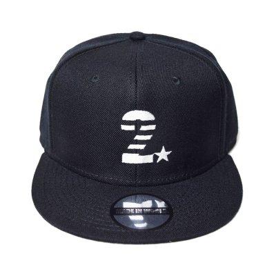 snap back cap (2☆) <br>black