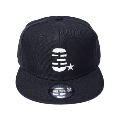 snap back cap (3☆) <br>black