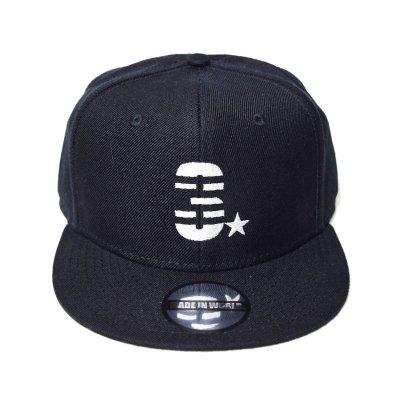 snap back cap (3☆) <br>black