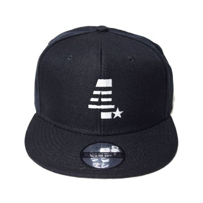 snap back cap (4☆) <br>black