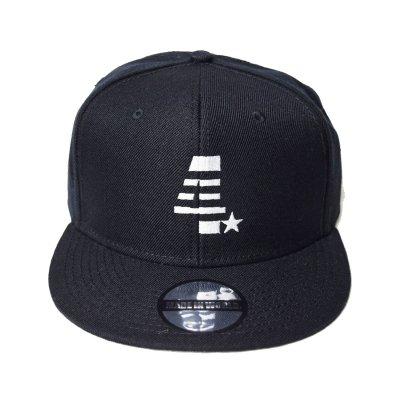 snap back cap (4☆) <br>black