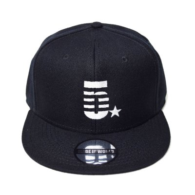snap back cap (5☆) <br>black