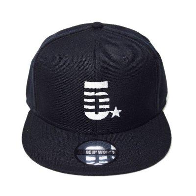 snap back cap (5☆) <br>black