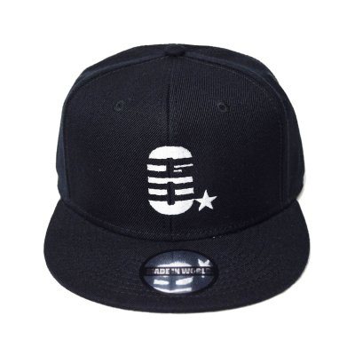 snap back cap (6☆) <br>black