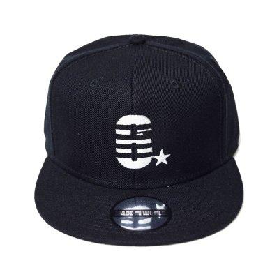 snap back cap (6☆) <br>black