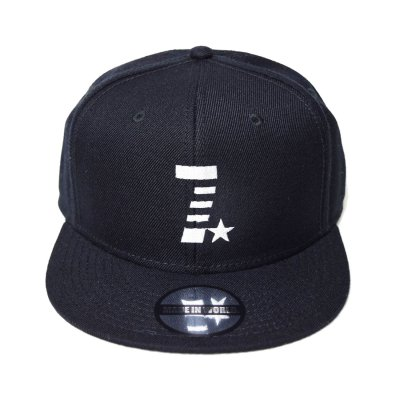 snap back cap (7☆) <br>black
