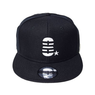 snap back cap (8☆) <br>black
