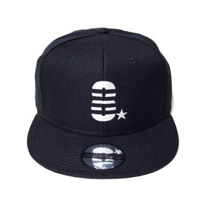 snap back cap (8☆) <br>black
