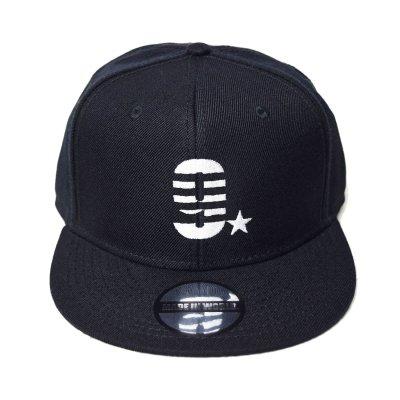 snap back cap (9☆) <br>black