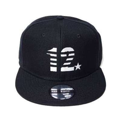 snap back cap (12☆) <br>black