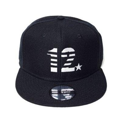 snap back cap (12☆) <br>black