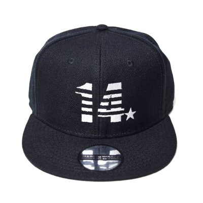 snap back cap (14☆) <br>black