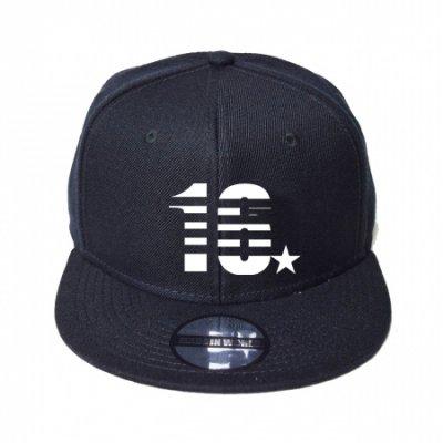 snap back cap (16☆) <br>black
