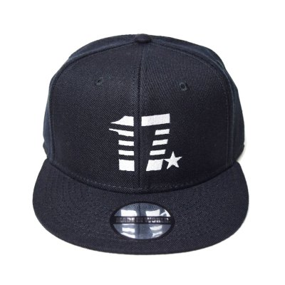 snap back cap (17☆) <br>black