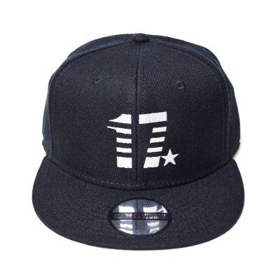 snap back cap (17☆) <br>black