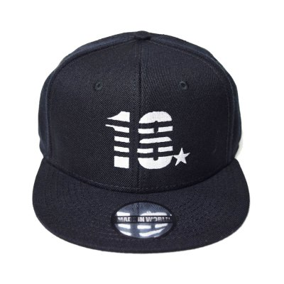 snap back cap (18☆) <br>black
