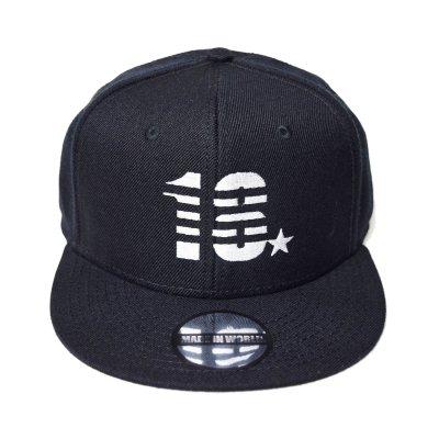 snap back cap (18☆) <br>black