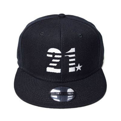 snap back cap (21☆) <br>black
