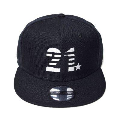 snap back cap (21☆) <br>black