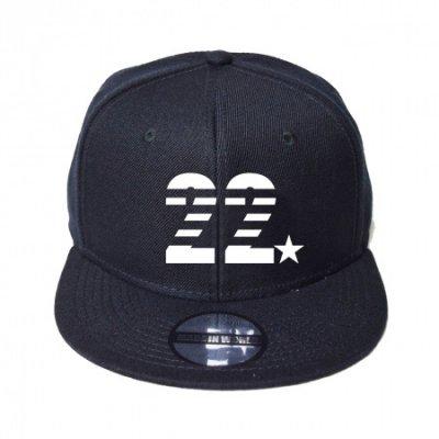 snap back cap (22☆) <br>black