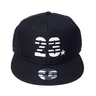 snap back cap (23☆) <br>black