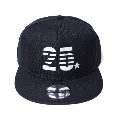 snap back cap (25☆) <br>black