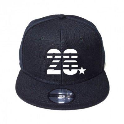 snap back cap (28☆) <br>black