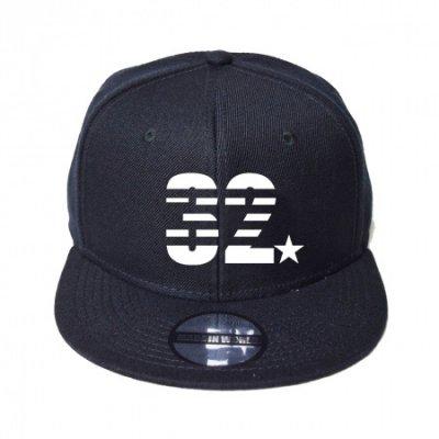 snap back cap (32☆) <br>black