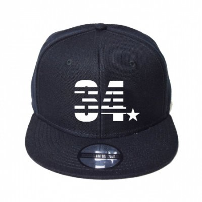 snap back cap (34☆) <br>black