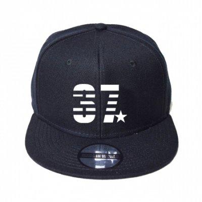 snap back cap (37☆) <br>black