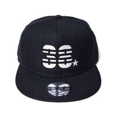 snap back cap (38☆) <br>black