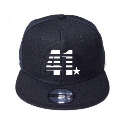 snap back cap (41☆) <br>black