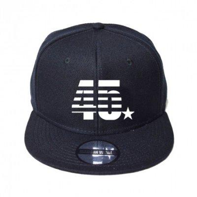 snap back cap (45☆) <br>black
