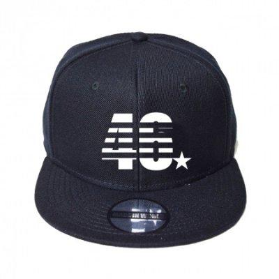 snap back cap (46☆) <br>black